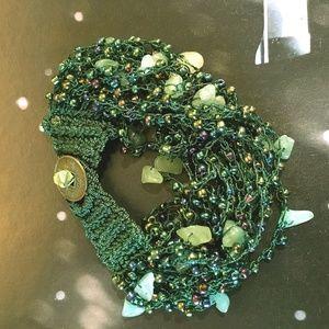 Jewelry - Bead Embellished Crochet Bracelet